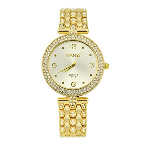 Knowin Uhren Damen Mode Armband Uhr kreative Analog Quarz Angenehmer Diamant Edelstahl Armbanduhr Casual Uhr for Frauen Geschenk Uhr Mädchen Elegant Schlank Einfachheit Watch