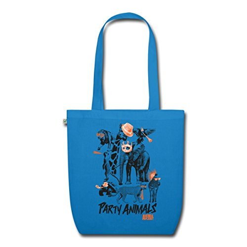 party-tiere-animal-planet-bio-stoffbeutel-von-spreadshirtr-pfauenblau