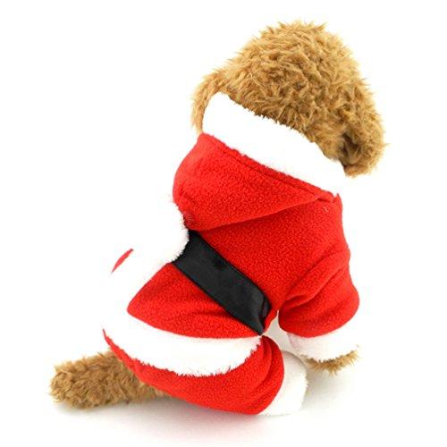 smalllee_lucky_store Kleine Hunde Santa Claus Kostüm Fleece Hund Xmas Outfit Pudel Kleidung Boy, Large, - Santa Claus Kostüm Für Verkauf