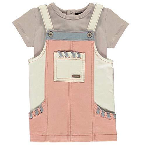 Firetrap Mädchen Pinafore Kled und Bodysuit Set Rosa Cloud 6/12 Monate