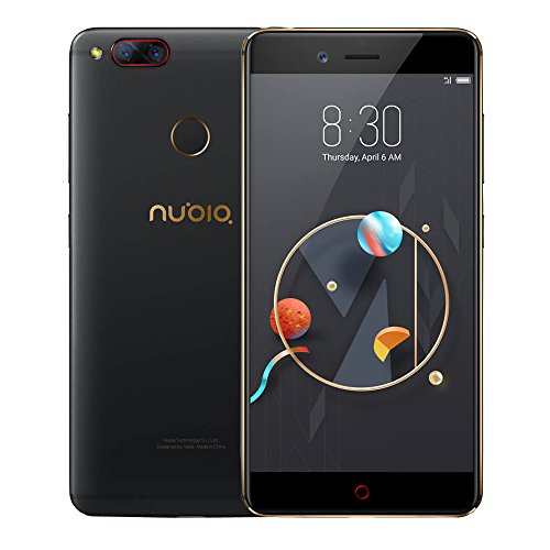 Nubia Z17mini NX569J 4G Smartphone 5.2 Zoll FHD Gorilla-Schirm Qualcomm Snapdragon 652 MSM8976 64-bit Octa Kern 4GB RAM + 64GB ROM vorderes 16MP 13 + 13MP Doppelrückseiten-Kameras Mobiltelefon (Schwarzes Gold)