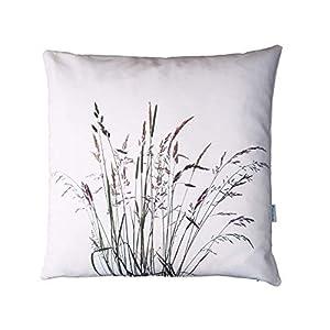 Gräser Kissen, Baumwolle und Leinen, 50×50 cm Hülle, Natur Motiv, Deko, Sofa, Garten