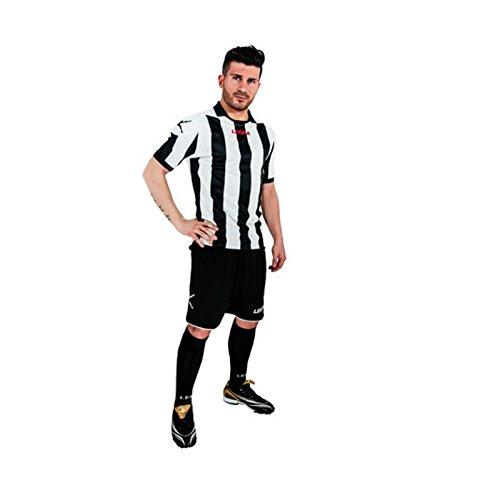 Legea kit Belgrado Herren Jungen Fußball Trikot Shirt Short Hosen Klein Armel Hallenfußball Blu/grenade weiß/schwarz