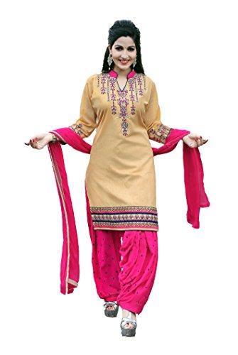 OSLC Chiku cotton patiala Salwar Suit Women's Cotton Patiala Salwar Bottoms Blue...