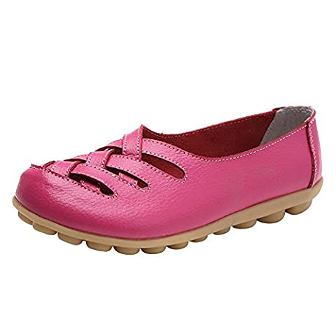 Verocara Women's Tanner Pebbled Leather Flats Boat Shoes Casual Shoes