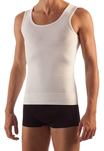 FarmaCell Man 417 Figurformendes Unterhemd Herren Baumwolle Weiß