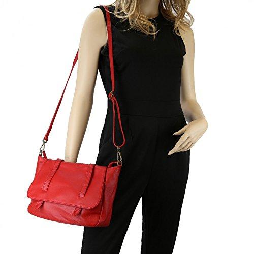 OLIVIA, Borsa a tracolla donna nero nero rosso