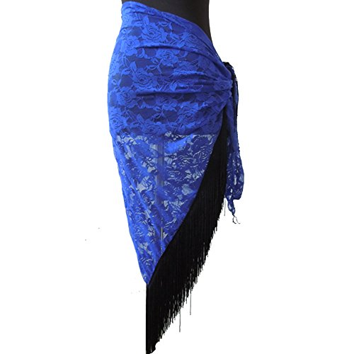 Loveble Handmade Lace Floral Triangle Hip Scarf Belt Belly Dance Costumes C