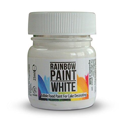Rainbow Dust Edible WHITE Food Paint Colour for Cup Cake Sugarcraft Paste Décor -
