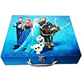 Art Box Girl Print (f) Solid Wooden Multi Purpose Utility Box For Keeping Essentials On Dressing Table Or In Kids Room Or Presenting In Diwali Gifts With Choclates