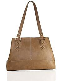 Fargo Base PU Leather Women's & Girl's Shoulder Handbag (Beige_FGO-026)