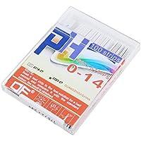100 Gaza 0-14PH Papel Color Test 4 Indicador de ácido alcalino Medidor para la solución blanco