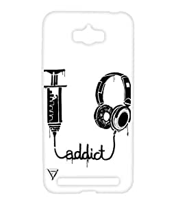 Vogueshell Addict To Music Printed Symmetry PRO Series Hard Back Case for Asus Zenfone Max