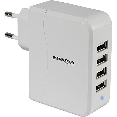 Chargeur USB Basetech SUC-4900/4 Courant de Sortie (Max.) 4900 mA 4 x USB