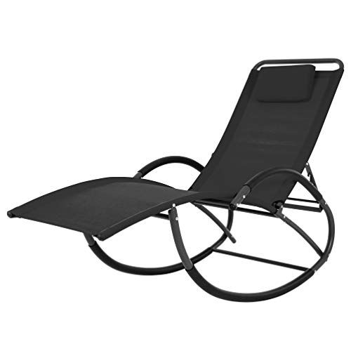 Vivere WAVELAZE-BK Wave Laze Chair-Steel-Black Best Price and Cheapest
