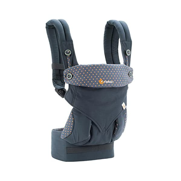 ERGObaby Baby Carrier for Toddler, 360 Dusty Blue 4-Position Ergonomic Child Carrier and Backpack Ergobaby 4 ergonomic wearing positions: front-inward, front-outward, hip and back carry Structured bucket seat keeps baby seated in the anatomically correct frog-leg position Exceptionally comfortable thanks to adjustable, extra-wide waistband to support the lower back;Start with newborn infant insert 0-4 months/7-12lbs, sold separately 2