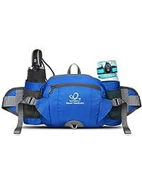 WATERFLY Hiking Waist Bag With Water Bottle Holder Travel Waist Pouch For Men Women Lightweight Sports Walking...