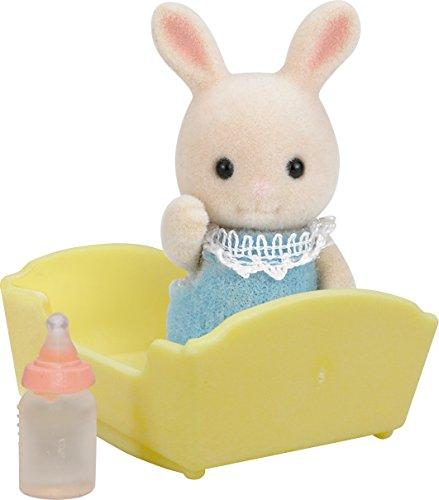 Sylvanian Families - Cucciolo di coniglio, colore: bianco latte