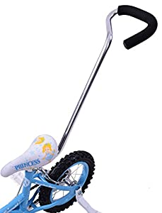 Bicycle Parent Pole Safety Control Grab Handle Childs Kids Bike Silver Quality Alloy