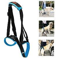 AUOKER - Soporte para perro, arnés de elevación ajustable para perros con asa para personas