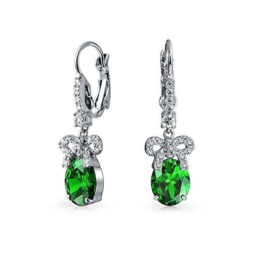 bling-jewelry-cz-vert-ruban-bow-drop-earrings-plaquee-rhodium
