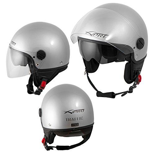 casco-jet-scooter-moto-ece-22-doppia-visiera-parasole-argento-l