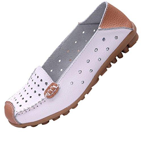 Minetom Femme Chaussure Ballet Casual Pompes Creux Ballet Slip Plat Escarpins D'entraînement Chaussures de Bateau