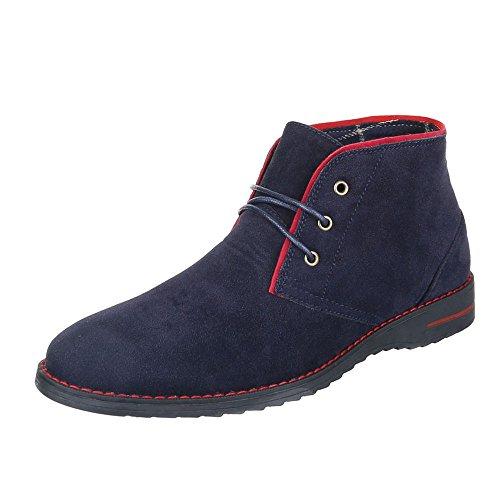 Ital-Design , Desert boots homme Bleu