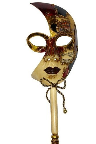 nival Mardi Gras Masquerade Mask on a Stick Style 5 by Venetian (Masquerade Mask-sticks)