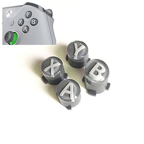Preisvergleich Produktbild Ersatzknöpfe Ersatz Bullet Buttons (Oberfläche in Mod Kit Hebel Joystick für Xbox One S Slim Elite Controller –-Magic grau