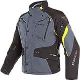 Dainese Dolomiti GoreTex Motorrad Textiljacke Grau/Schwarz/Gelb 48