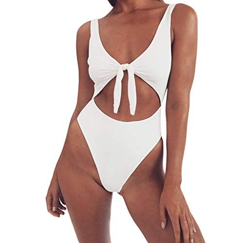 SCHOLIEBEN High Waist Bikini Damen Damen Set Brazilian Push Up Bandeau High Waist Sexy Triangel Boho Retro Bade String Tanga Bustier Oberteil BH Bademode Badeanzug