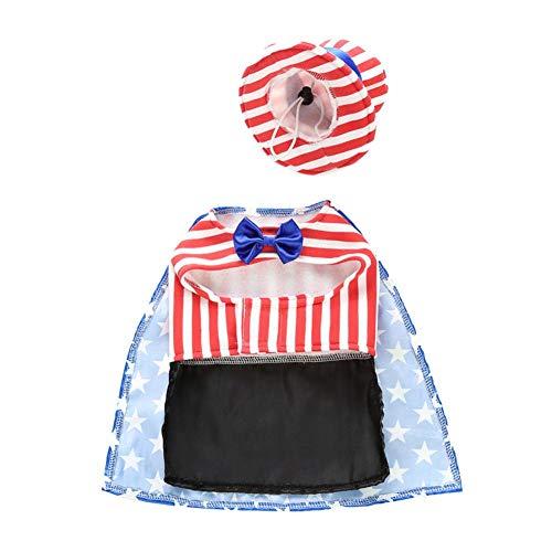 YouN Funny Pet Kleidung Halloween Weihnachten Flag Print Hunde Katzen Kostüm (S)
