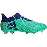 Adidas predator 18.3FG sol dur adulte 44.7Chaussure de football–Chaussures de football (sol dur, adulte, masculin, Semelle avec chevilles, Bleu, Blanc, monótono)