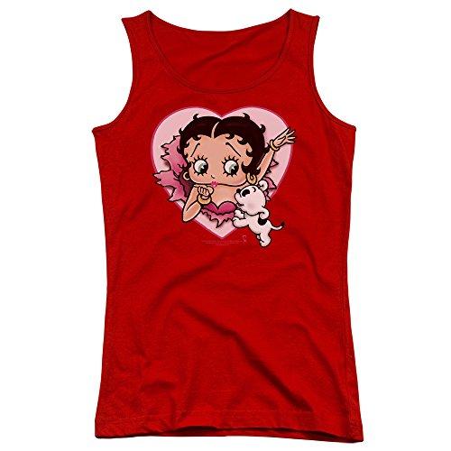 Betty Boop-I Love Betty ragazzi, Canottiera da donna Rosso