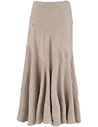 Ladies Crinkled Suedette Kickflare Skirt. 2 Colours. RRP: £39. Sizes 10-20.