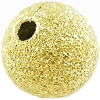 Pacco 50 x D'Oro Ottone Placcato 8mm Distanziatore Satinato Tondo - (HA01930) - Charming Beads