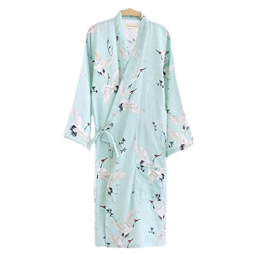 Japanische Stil Frauen Dünne Baumwolle Bademantel Pyjamas Kimono Rock (Kimono Japanische Kleid)