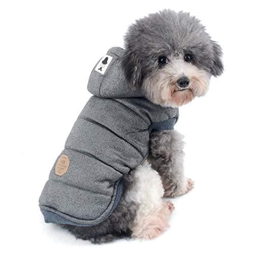 Ranphy Winterjacke für Hunde, gepolstert, mit Kapuze, für Katzen und Welpen, kaltes Wetter, Jacke für kleine Hunde unter 9 kg (Größe fällt klein aus)