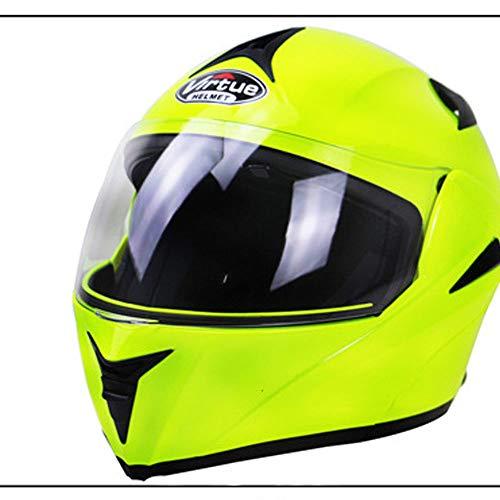 WLJBY Motorrad Integralhelm Anti-Fog Double Lensflip Rennhelm Sporthelm DOT & ECE-Zertifiziert Erwachsene Männer und Frauen Allgemein,L
