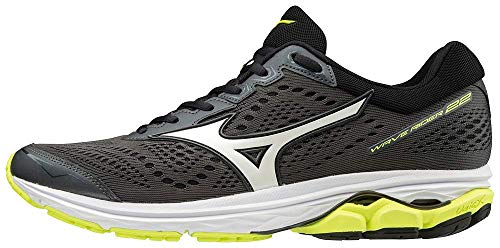 Mizuno Wave Rider 22, Herren Laufschuhe, Schwarz (Dark Shadow/White/Safety Yellow 71), 43 EU (9 UK) - Mizuno Sportschuhe