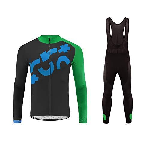 Uglyfrog Set Composto da Maglia e Pantaloni da Ciclismo, Lycra, da Uomo, Imbottitura 3D,per l'autunno e l'inverno Body Outdoor Wear