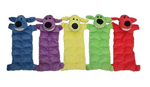 Von Multipet 12Zoll Squeaker Mat Weiches Plüsch Hundespielzeug mit 13Quietscher, Farben können abweichen - Multi Farbe-plüsch