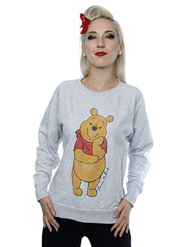 Disney Femme Classic Winnie The Pooh Sweat-Shirt Heather Gris