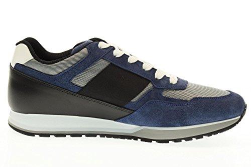 HOGAN chaussures hommes baskets basses HXM3210Y130GCD754F H321 Noir / bleu