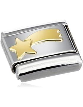 Nomination Composable Classic FUN Edelstahl und 18K-Gold (Komet) 030110