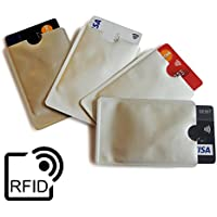 LUPO® Porta Carte e Sleeve di Protezione con Blocco ID Antifurto di Alt Qualità (Confezione da 4)
