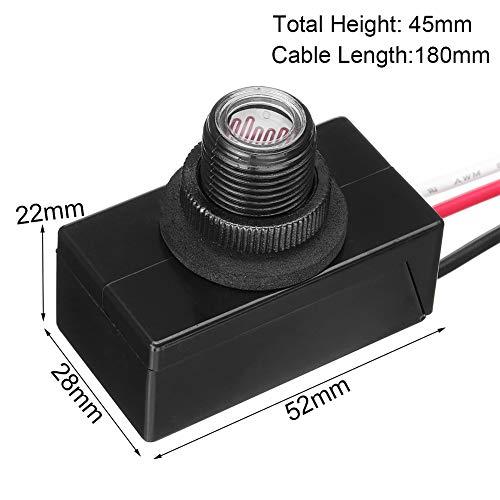 Light-Operated Schalter 120VAC 50/60Hz Knöpfe Verzögerung Typ Regensicher Foto Smart Heim Thermosensitive Auto auf Off Bündig Halterung Dämmerung -