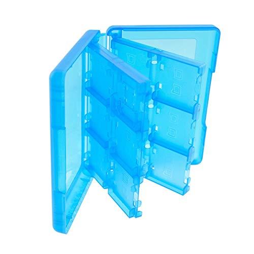 Preisvergleich Produktbild Nosii 24-in-1-Kartenhalter-Aufbewahrungsbox für Nintendo 3DS DSi DS XL-Tintenpatrone (Color : Blau)