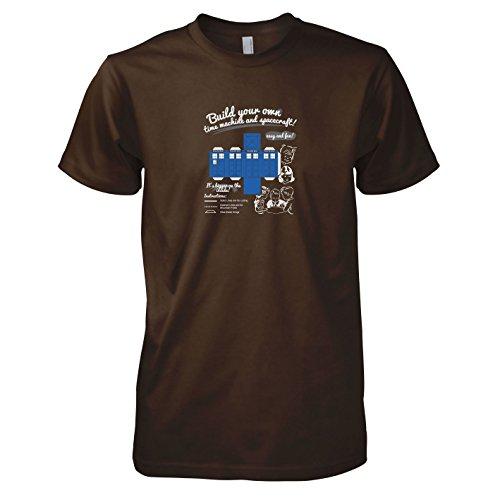 TEXLAB - Build your own Time Machine - Herren T-Shirt Braun